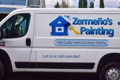 Offering: Van printed vinyl graphics and lettering