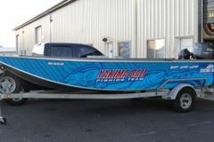 Offering: Custom printed boat graphics - ready to go fishing!
