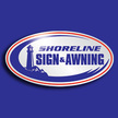 Shoreline sign and awning